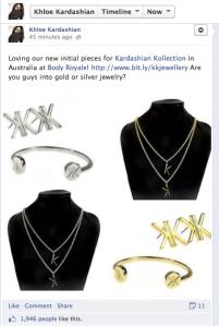 Khloe Kardashian <3's her KK Jewellery