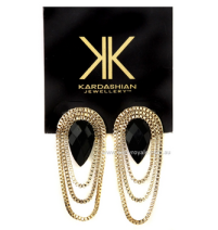 Kardashian Kollection Drop Chain Earrings